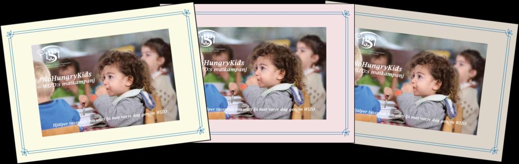 Tre No Hungry Kids-kort