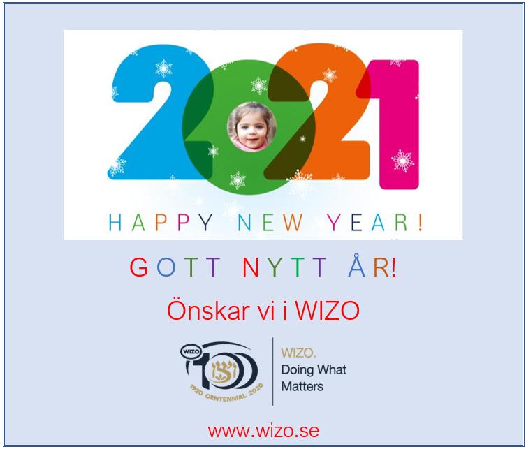 Nyårshälsning 2021 från WIZO Sverige