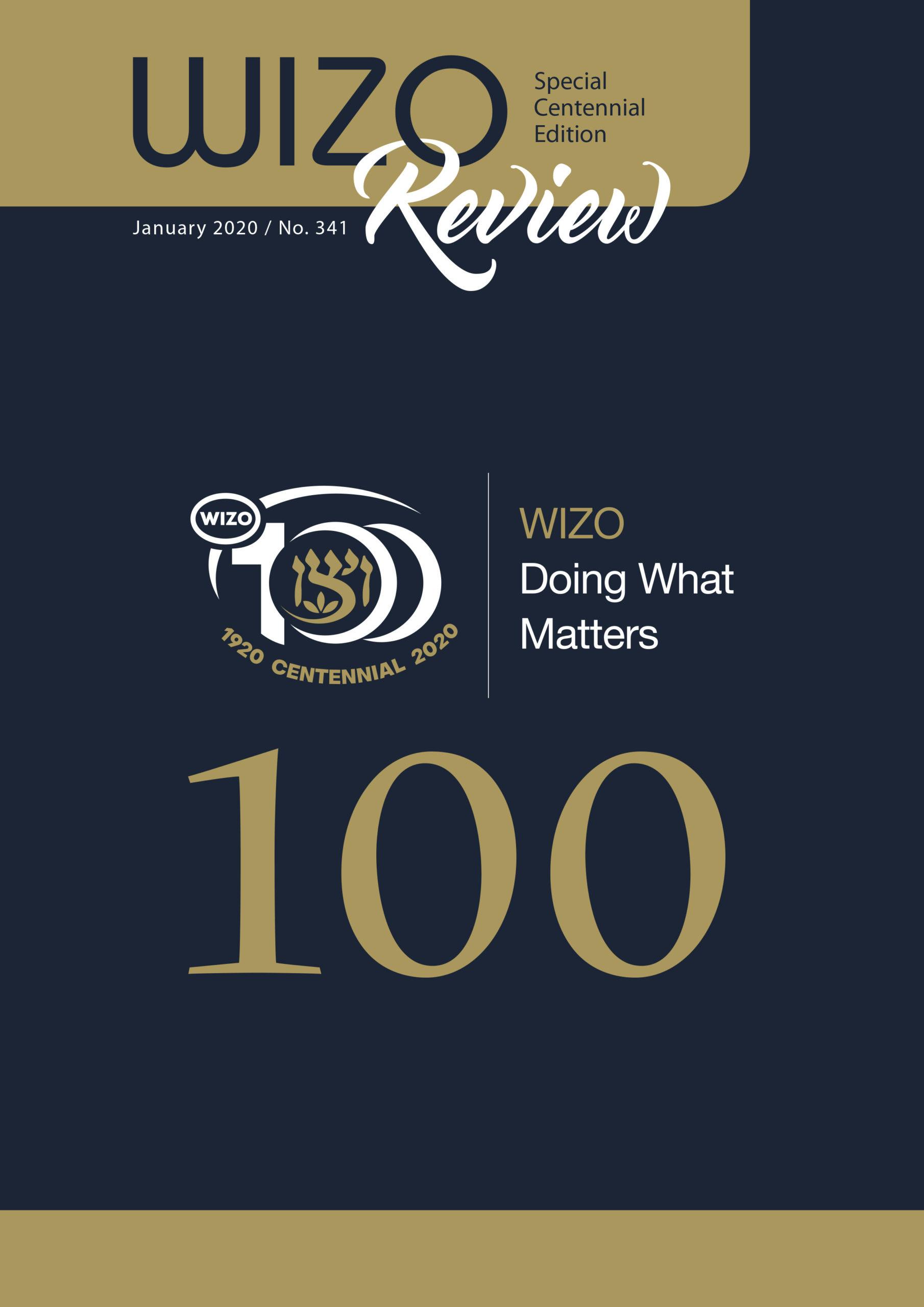 Framsida magasin WIZO Review WIZO 100 år