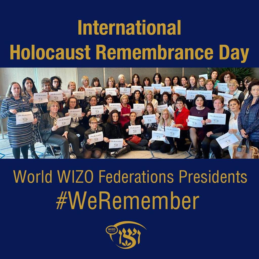 Gruppbild som hedrar minnet av Förintelsens minnesdag