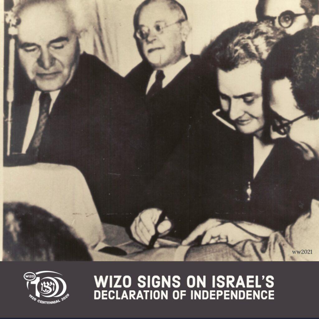 Undertecknande av Israels självständighetsdeklaration 1948