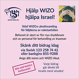 Hjälp WIZO hjälpa Israel - akutinsamling