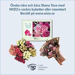 Collage med rosenkort, rosenbukett och blomsterbukett