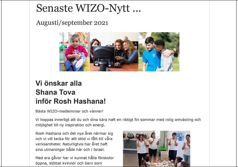 Nyhetsbrev aug/sept Rosh Hashana